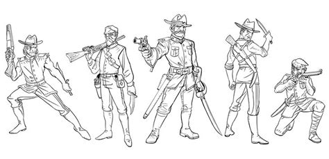 malifaux coloring book wylde s rangers keep blackwater gulch safe