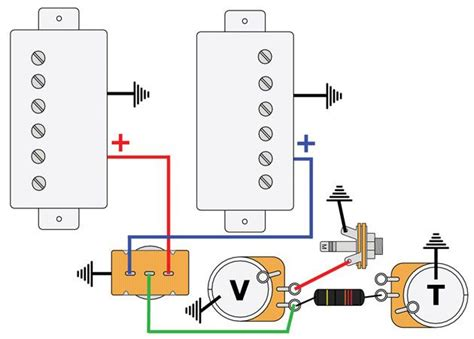 3 single coil with 2 volumes wiring diagram
