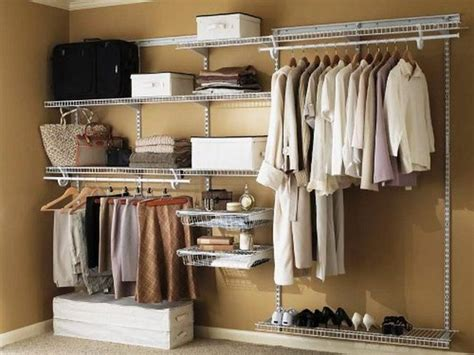 simple built in closet ideas with white drawers also valet