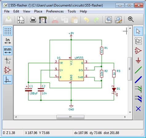 how to draw a circuit diagram with kicad for beginners