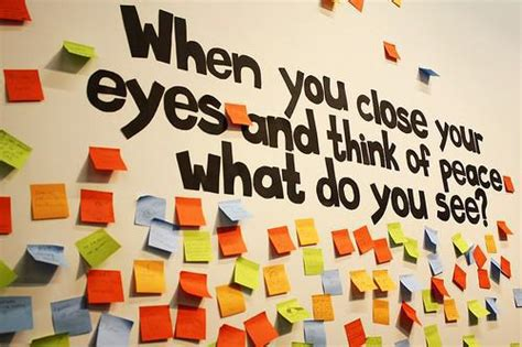 themes of peace education when you close your eyes mlk day bulletin board