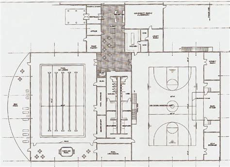 recreation center floor plans community center 1st floor plans