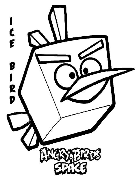 angry birds space coloring pages online angry birds space ice bird coloring pages free coloring