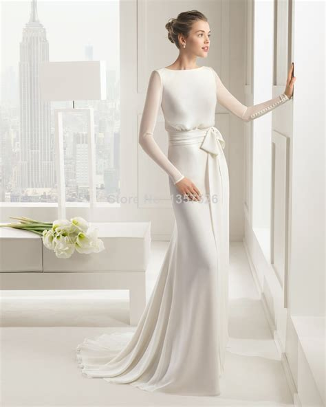design dress with sleeves latest design long sleeve bridal gowns 2015 sheath chiffon