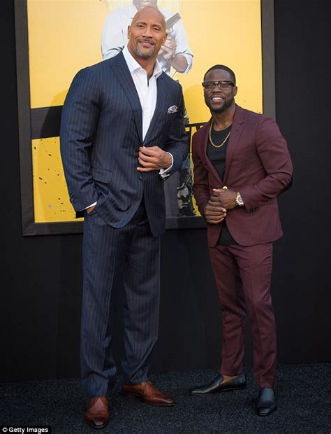 kevin hart and dwayne johnson the rock and kevin hart shine at central intelligence la