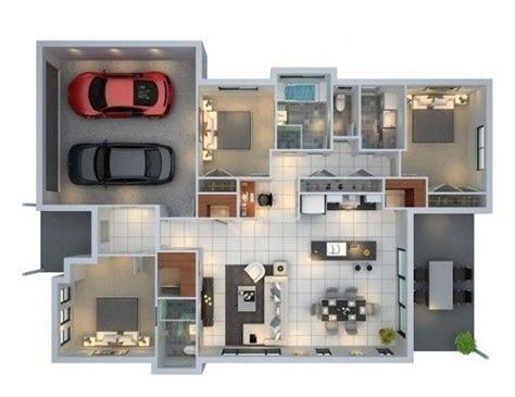 planos 3d plano de casa en 3d