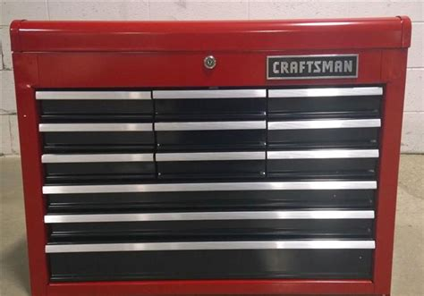 craftsman 12 drawer top chest tool box storage steel