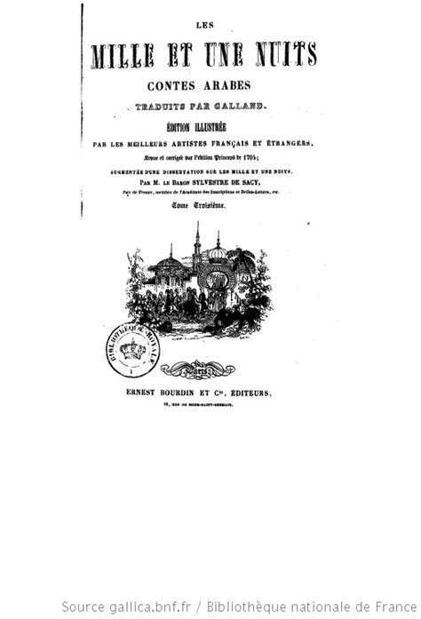 Les mille et une nuits : contes arabes. Tome 3 / trad. par
