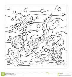 libro da colorare per i bambini operatore subacqueo del