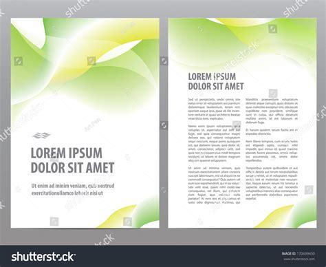 business template design vector business brochure blank design flyer stock vector