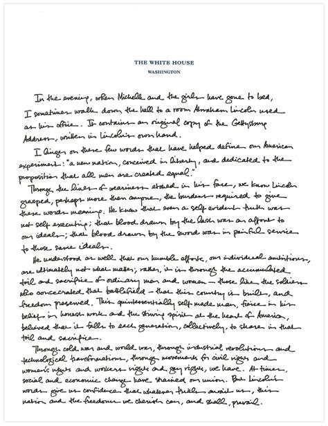 obama thesis paper president obama s handwritten essay marking the 150th