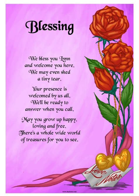 Flower Poem Wedding by Personalised Gifts Product Summary Special Occasion