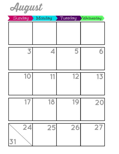 printable 6 month planner 2015 6 best images of printable 6 month planner 2015