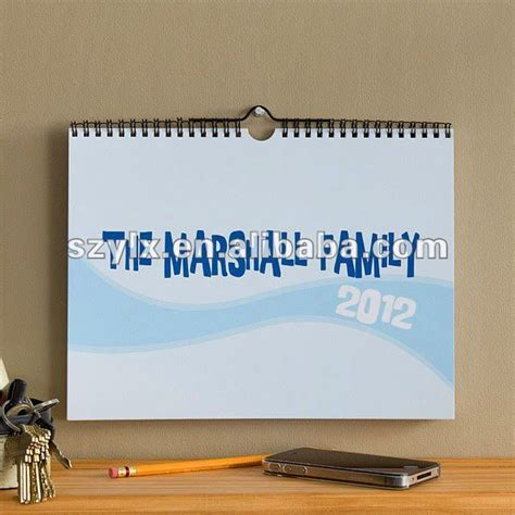 Calendar Hanging Hooks 2014 Yearly Wall Calendar With Convenient Hook For Easy