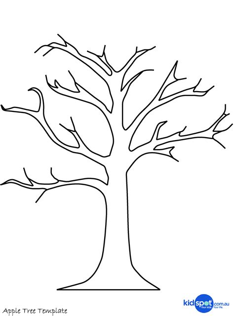 Tree Craft Cork St Apple Tree Kidspot Tree Template To Print