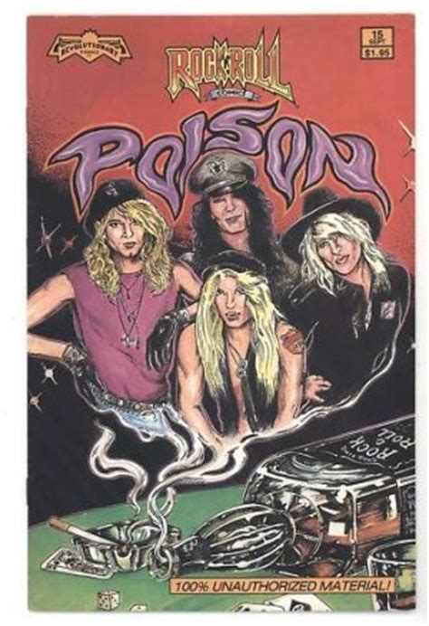 poison a novel books poison 80 s rock glam hair band comic book bret