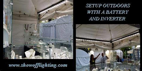 battery operated lights for craft booth craft show booth lighting portable led display light