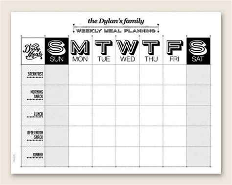 editable menu planner template printable weekly meal planner editable pdf organizing