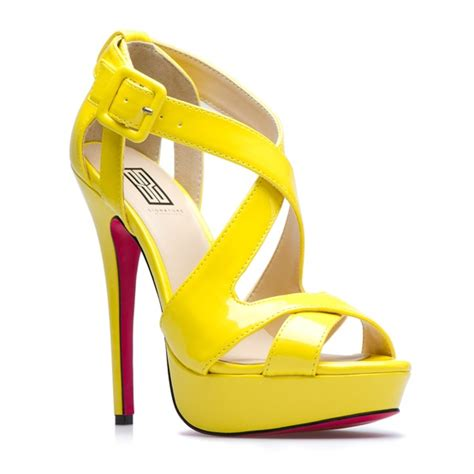 yellow shoes heels pumps