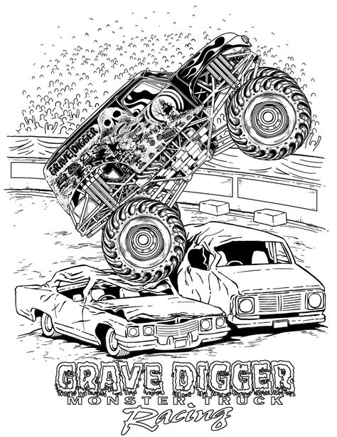 grave digger truck coloring pages how to draw montstertrucks coloring pages trucks
