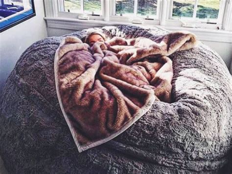 like lovesac this lovesac pillow chair is as big as a bed and you ll