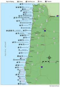 oregon coast wildlife map whale locations tons