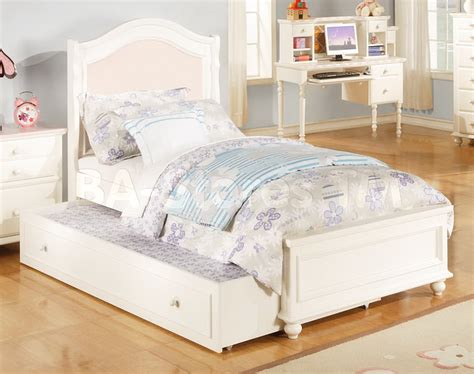 30300t cecilie 5pcs pink white kids twin trundle bedroom white twin bed white twin size metal bed frame stanley