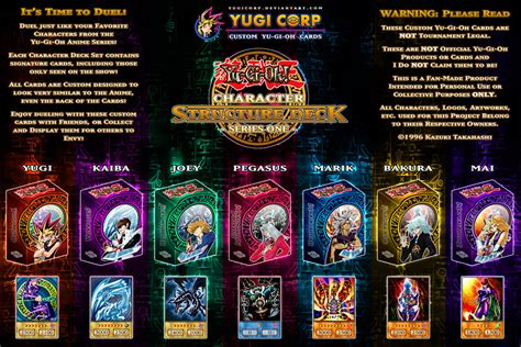 structure deck character structure decks complete poster update by