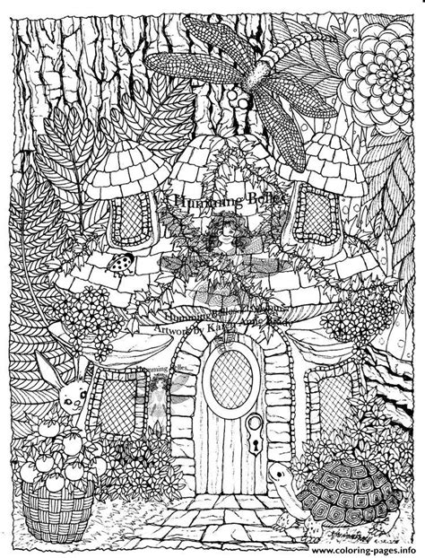 printable fairy house difficult fairies house coloring pages printable
