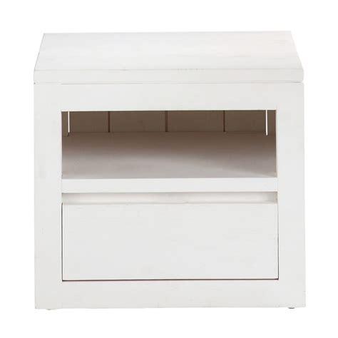 comodini 40 cm comodino bianco in massello di legno con cassetto l 40 cm