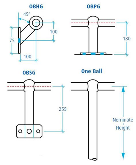 onesteel sections handrail stanchion components