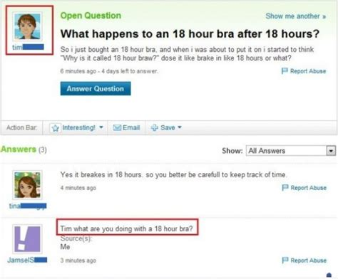 funniest yahoo questions  answers