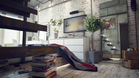 Loft Interior Design Casual Loft Style Living
