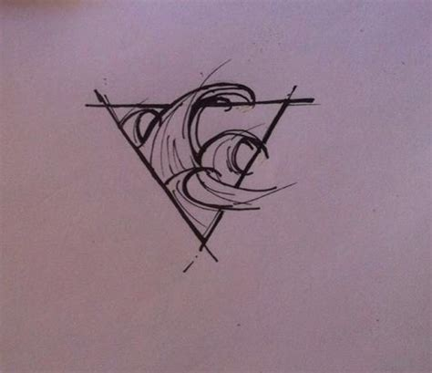 surf tattoo designs wave minimalistic