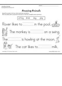amazing animals reading readiness worksheet 5
