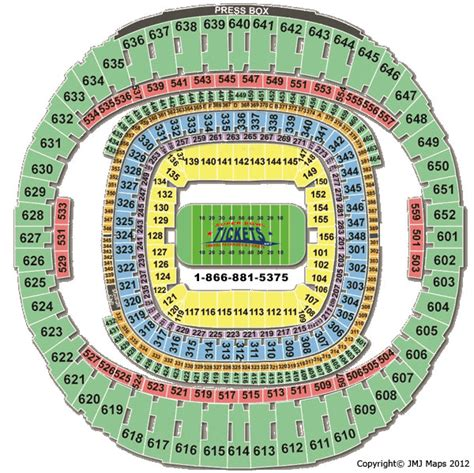 saints superdome seating map louisiana superdome seating chart