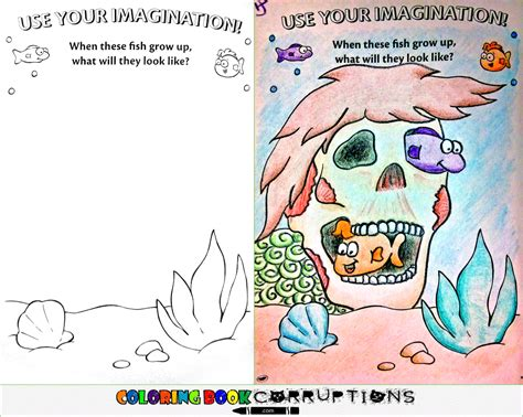 coloring book corruptions imgur fish home in comments coloringbookcorruptions