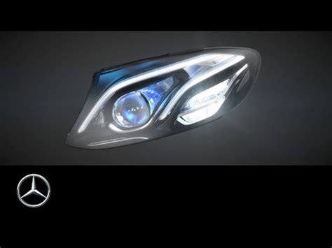 mercedes s class headlights multibeam led headls in the new e class youtube
