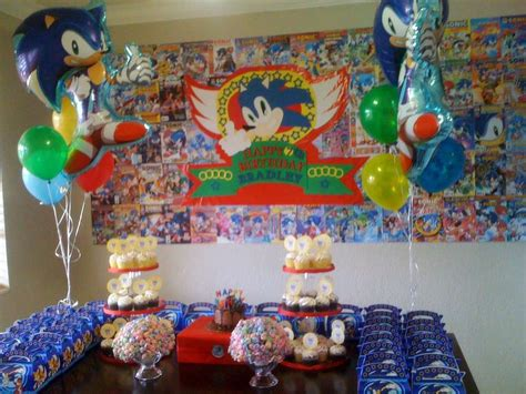 Theme Decorations by Sonic The Hedgehog Birthday Ideas Photo 8 Of 13 Catch