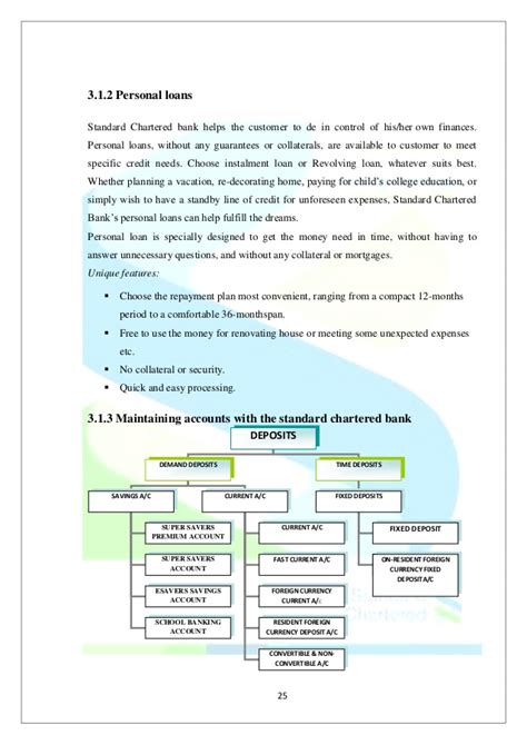 revolving credit loan standard bank comprehensive report on standard chartered as project work