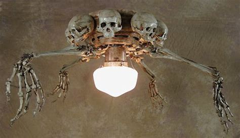 Skull Ceiling Fan by Skeleton Ceiling Fan With Skulls And Arms Sticking Out