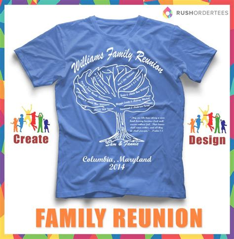 family reunion shirt templates need an idea for your next family reunion create custom