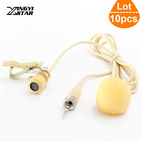 Microphone 3 5 Mm Stereo With Tie Clip For Laptop Gps Mic 10pcs beige lapel tie clip mic condenser lavalier