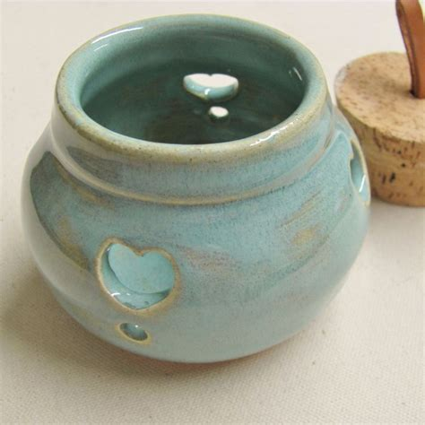 ceramic garlic keeper pot pourie jar handmade pottery