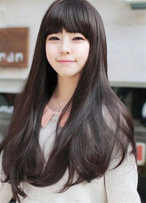 Haircuts For Japanese Straightened Hair | sweet romantic asian hairstyles for young women pretty