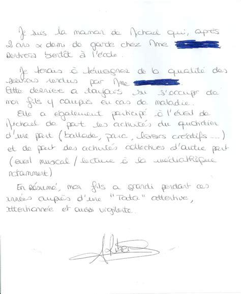 Lettre De Recommandation Assistant Maternelle Exemple Lettre Remerciement Nounou Covering Letter Exle