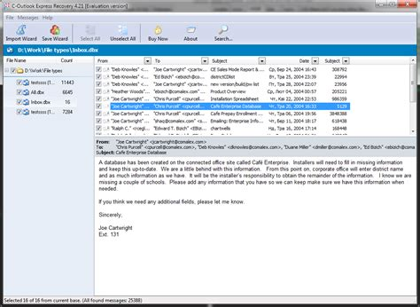 Outlook Email Search Tool C Outlook Express Recovery Screenshot X 64 Bit