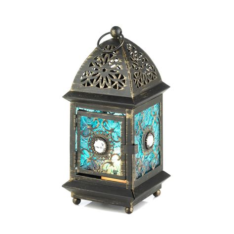 lantern home decor jeweled blue glass lantern wholesale at koehler home decor