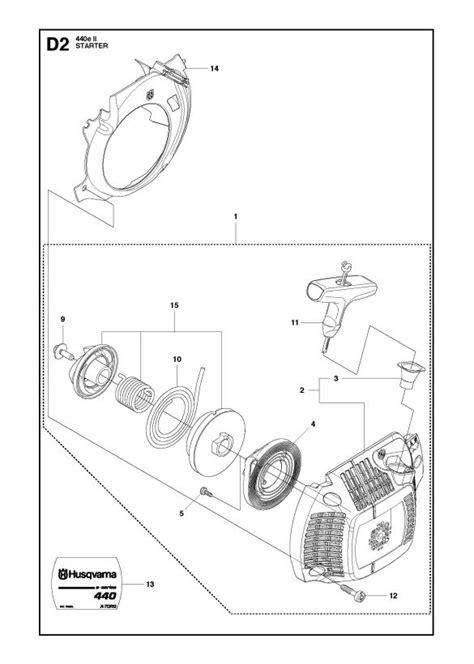 Husqvarna 440 e II Chainsaw STARTER Spare Parts Diagram