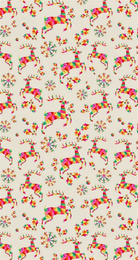pattern christmas wallpaper colorful geometric reindeer pattern tap image for more